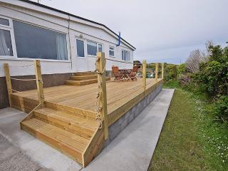 Secluded Sun deck at rear of property