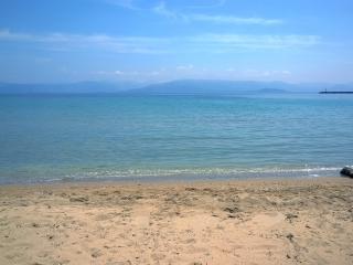 Villa with wonderful garden on the beach in Corfu