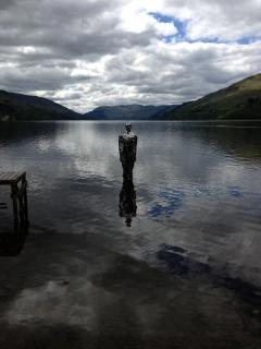 'Still', the mirror sculpture on Loch Earn.