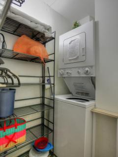 Washer & Dryer, and walk-in closet.
