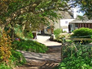Down a winding country lane, at the end of a secluded farm courtyard
