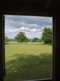 View from the huts stable door
