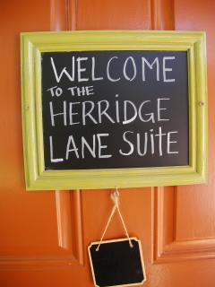 Herridge Lane Suite:  2 person studio suite on the main level of the guesthouse