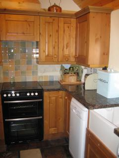 Granite worktops and Belfast sink