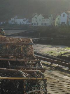 traditional lobster pots. local crab also a speciality