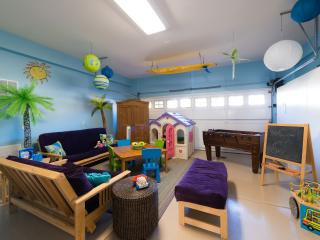 Playroom!  Toys & Legos for kids, Playstation & Foosball for teens