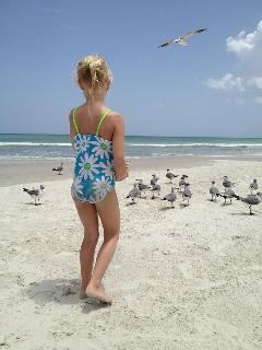 Kids of all ages enjoy feeling the seagulls! Bread, goldfish crackers?? You name it! They love it!