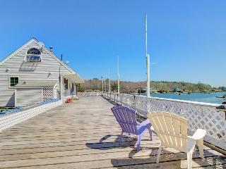 Two oceanfront homes with lovely decks and a dock!, East Boothbay