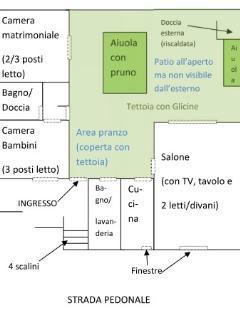 piantina della villa
