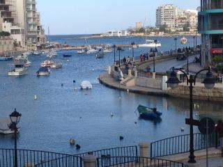 St. Julian's Bay (Spinola, Love sign), , a short walk down the road from Studio in St. Julian's.