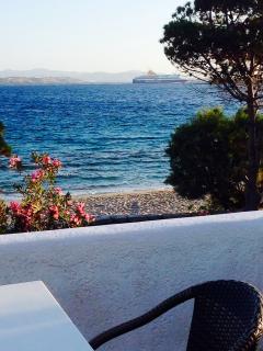 Main floor terrace ~beachfront on Krios beach