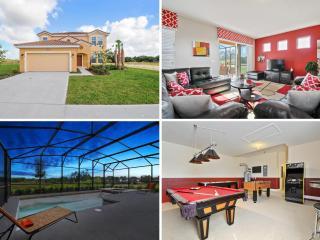 Relaxing 6bd luxury Orlando villa POOL&GAMES- 4115, Davenport