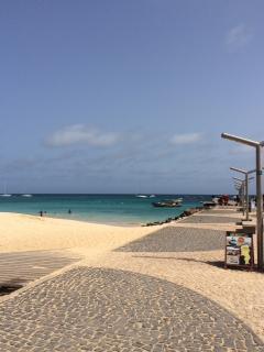Santa Maria peir overlooking Sal beach