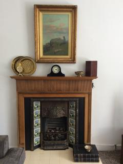 Feature fireplace in lounge (decoration only)