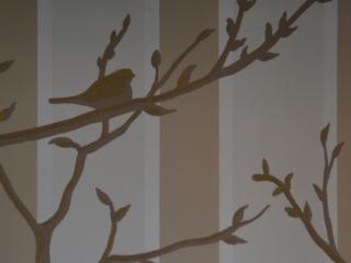pareti dipinte a mano dalla famosa artista  Simona Bolis