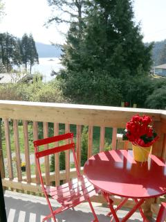 Enjoy breakfast on your deck with ocean view.