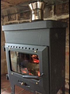 Log burner in lounge - great for those winter months.