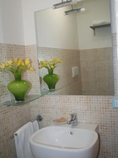 fiori bagno appartamento Glicine