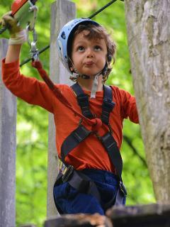 Zip line adventure park