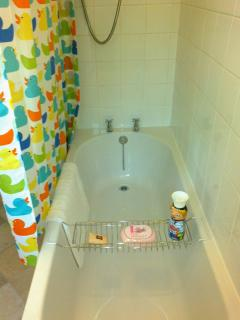 New bath and shower (Matey foam included!)