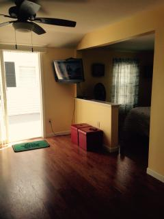 Flat screen TV and wireless internet included