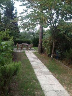 access to the private garden