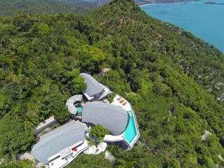 Offering 180 degree panoramic ocean-views - arguably the best view of any villa in Samui