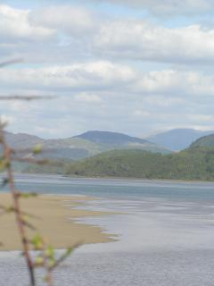 Barmouth estuary looking inland towards Penmaenpool