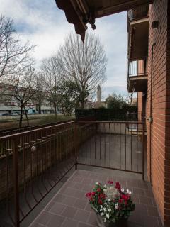 Balcone vista giardino