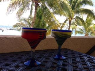 mmmm... margaritas on your balcony over looking the sea and marina