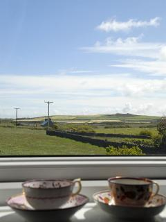 Views from the master bedroom over Strumble Head