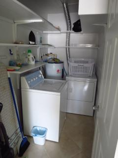 Complete laundry room.