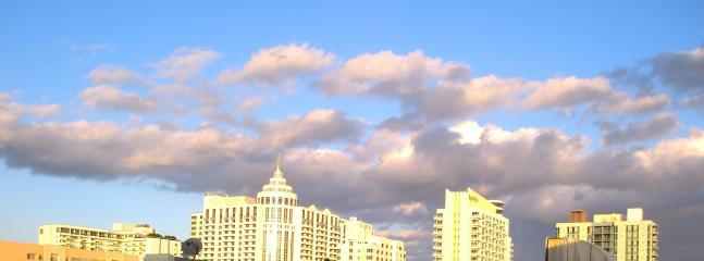 OPEN & GORGEOUS VIEW OVER COLLINS AVENUE IN SOUTH BEACH MIAMI FROM APT. WINDOWS.