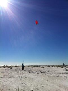 Vacationers training for kite surfing at Bean Point!