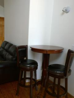 Pub table in dining area