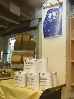 bread on sale made from wholemeal flour produced at the Mill