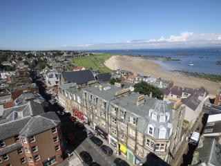 Ariel view of the flat and the beach