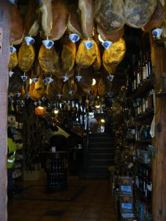 'Jamon', the traditional air dried ham, produced in this area