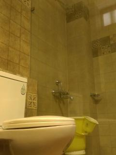 Wash Rooms with Rain Shower,24 Hrs Hot and Cold water,Jaguar Bath Fittings,