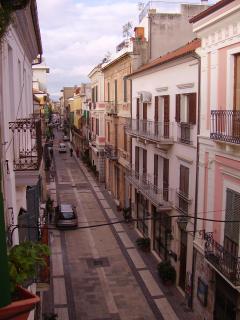 Corso Manthone' vista dal balconcino della proprietà