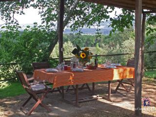 The smaller outdoor loggia for dining