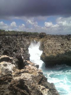 The Blow Hole in the Peninsula only 10 minutes form your villa