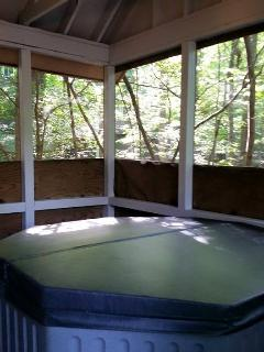 Hot Tub  in  secluded sunroom
