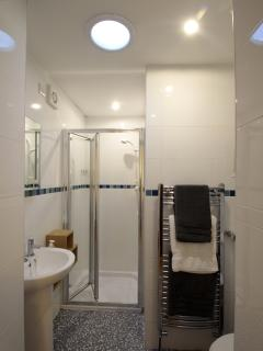 Ensuite shower/wc to bedroom 1 with heated towel rail