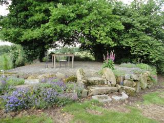 rockery at top of garden, early summer