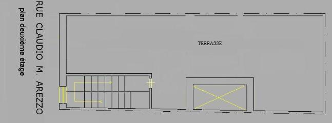 floor plan of the terrace (40 mq)