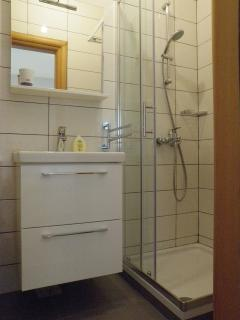 attached bathroomwith shower