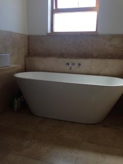 Family bathroom with freestanding bath and separate shower