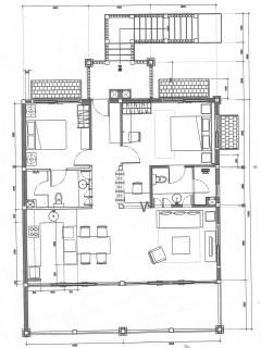 apartment lay out - 2 bedrooms with ensuite shower and toilets