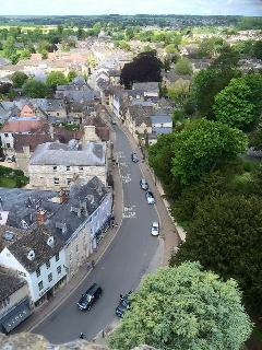 View from Cirencester church, The Cotswold town is just a few miles away by car.